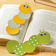 ทำที่คั่นหนังสือ หนอนน้อยน่ารัก