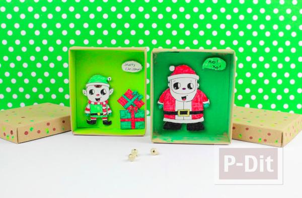 กล่องของขวัญวันคริสต์มาส ตัวการ์ตูน ส่งของ