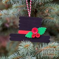 ไอเดียทำหมวกคริสต์มาสประดับ จากไม้ไอติม