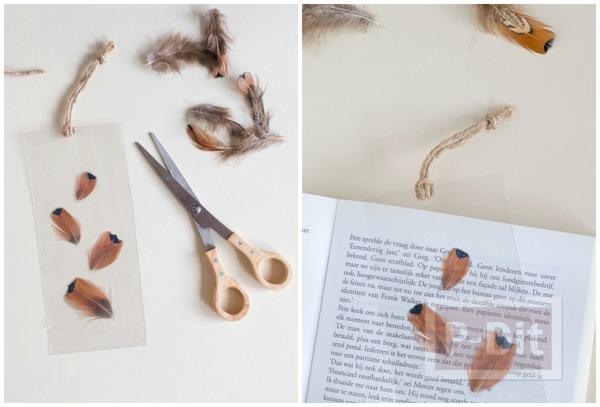 รูป 4 สอนทำที่คั่นหนังสือ จากขนนก เคลือบสีใส