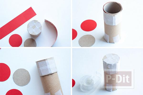 รูป 2 สอนทำที่ใส่กระดาษเชิญ จากแกนกระดาษทิชชู