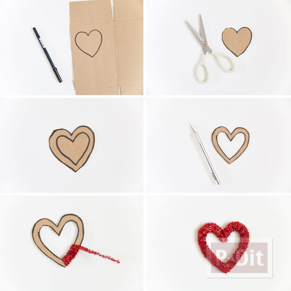 รูป 2 โบว์ประดับกล่องของขวัญ รูปหัวใจ ประดับพู่