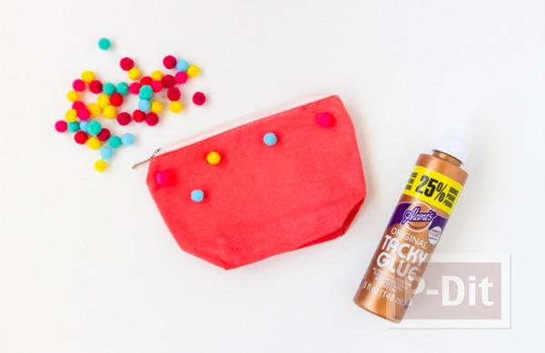 รูป 4 กระเป๋าใส่ของ ย้อมสี ติดปอมๆ
