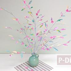ต้นไม้กระดาษ ทำเองสวยๆ จากกระดาษลายน่ารักๆ
