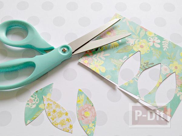 รูป 4 ต้นไม้กระดาษ ทำเองสวยๆ จากกระดาษลายน่ารักๆ