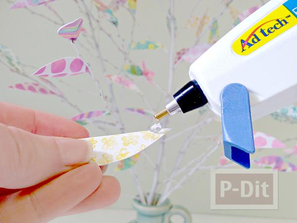 รูป 7 ต้นไม้กระดาษ ทำเองสวยๆ จากกระดาษลายน่ารักๆ