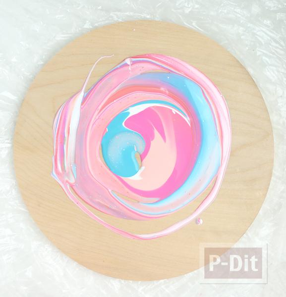 รูป 5 นาฬิกาติดผนัง สีสวย ทำเอง