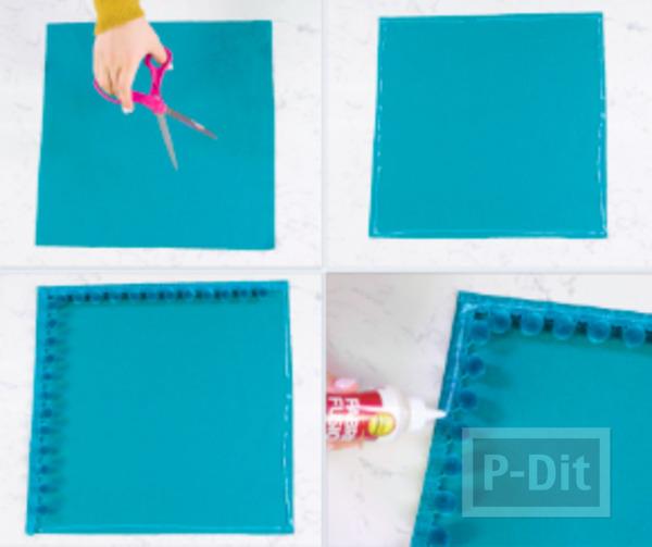 รูป 2 ตกแต่งหมอนอิง ประดับปอมๆสีสด