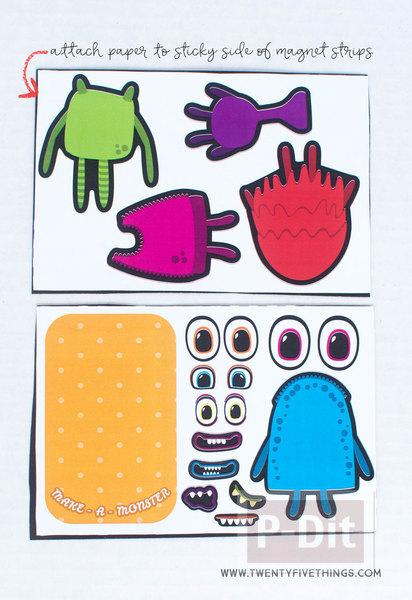 รูป 3 ตัดกระดาษรูป Moster ประดับกล่อง