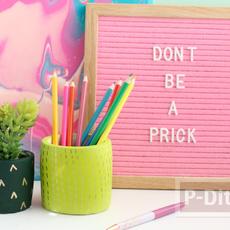 ที่ใส่ดินสอ ต้นไม้ สีสวย ลายน่ารัก ทำเอง