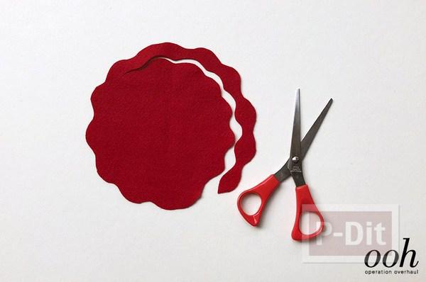 รูป 4 สอนทำดอกกุหลาบจากผ้าสักกะหลาด