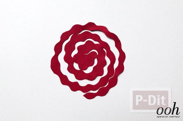 รูป 5 สอนทำดอกกุหลาบจากผ้าสักกะหลาด