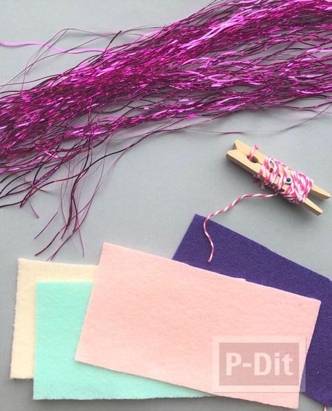 รูป 2 เทียนไข ประดับตกแต่ง ทำเอง จากผ้าสีสด