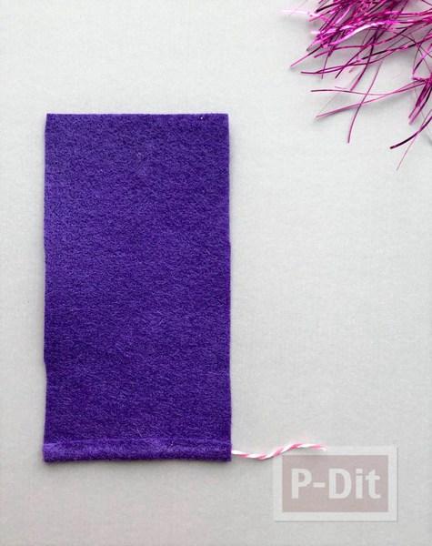 รูป 3 เทียนไข ประดับตกแต่ง ทำเอง จากผ้าสีสด