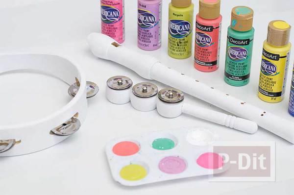 รูป 4 ระบายสีเครื่องดนตรี ให้มีสีสัน น่าใช้