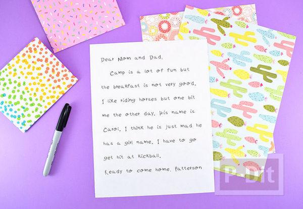 รูป 3 สอนพับจดหมาย จากกระดาษ A4