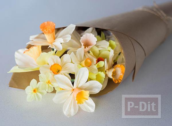 สอนทำดอกไม้กระดาษ ดอกดารารัตน์(Daffodil)