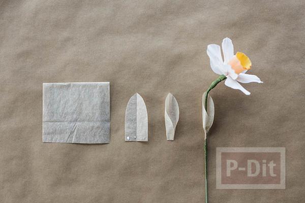 รูป 4 สอนทำดอกไม้กระดาษ ดอกดารารัตน์(Daffodil)