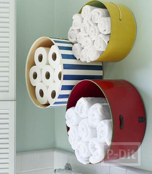 ไอเดียทำที่เก็บกระดาษทิชชู ผ้าขนหนู ในห้องน้ำ