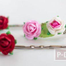 กิ๊บติดผม ลายดอกไม้ประดิษฐ์ตกแต่งสวยๆ