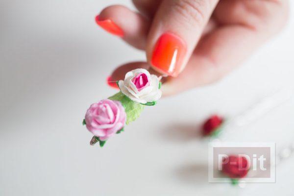 รูป 6 กิ๊บติดผม ลายดอกไม้ประดิษฐ์ตกแต่งสวยๆ