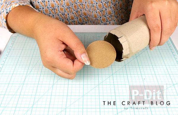 รูป 3 สอนทำที่ใส่ดินสอ จากแกนกระดาษ