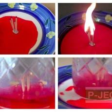 ดูดน้ำในจาน ใส่แก้ว จากไม้ขีดไฟ