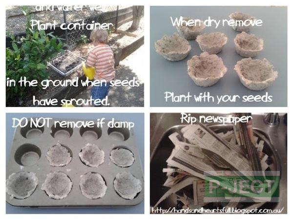 ทำกระถางปลูกผัก เพาะเมล็ด จากกระดาษ