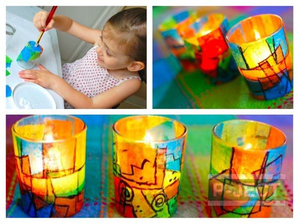 ระบายสีแก้วเทียน กิจกรรมยามว่าง สำหรับเด็ก
