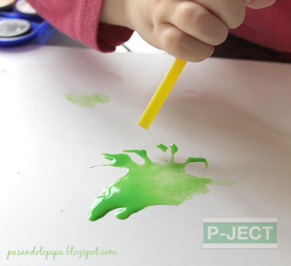 รูป 7 เป่าสี ละเลงรูปวาด ด้วยหลอด