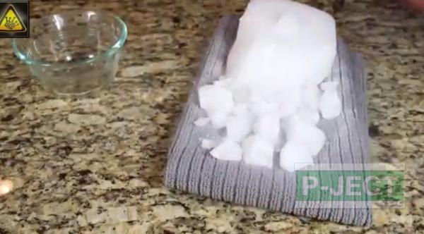 รูป 4 น้ำแข็งแห้ง ทำอะไรได้มากกว่าควันสีขาว (Dry ice )