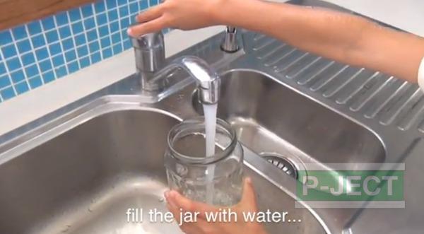 รูป 3 ทำพายุทอนาโด ในขวด จากน้ำยาล้างจาน