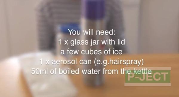 รูป 2 สอนทำควันในขวดแก้ว