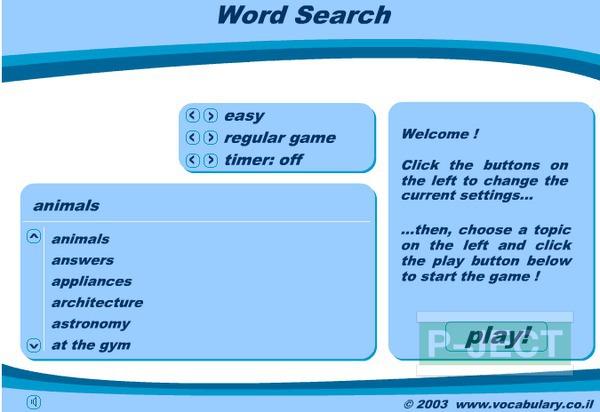 รูป 4 ฝึกศัพท์ภาษาอังกฤษ จาก Word Search Game