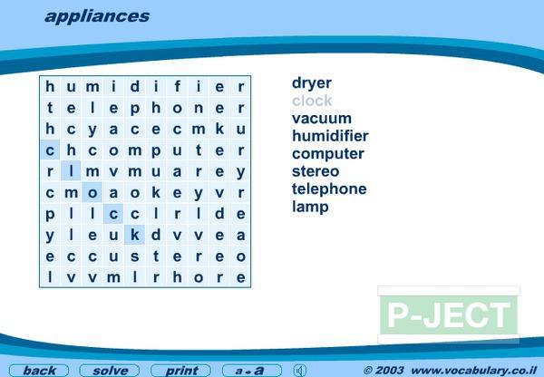 รูป 5 ฝึกศัพท์ภาษาอังกฤษ จาก Word Search Game