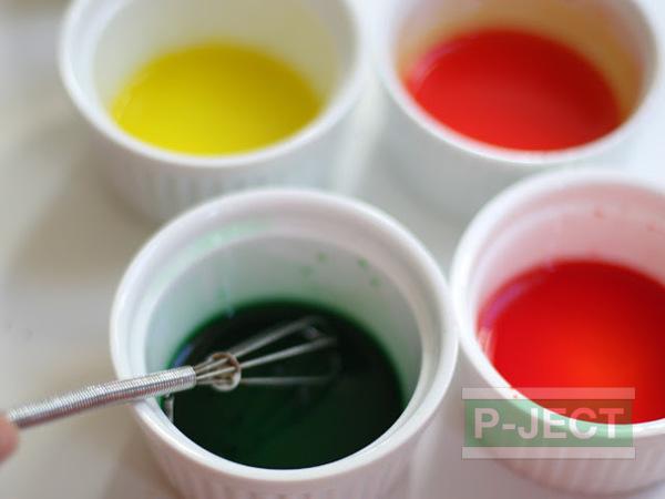 รูป 2 ย้อมสีขวดแก้ว จากสีน้ำ