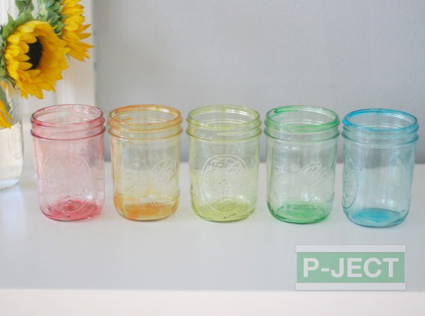 รูป 4 ย้อมสีขวดแก้ว จากสีน้ำ