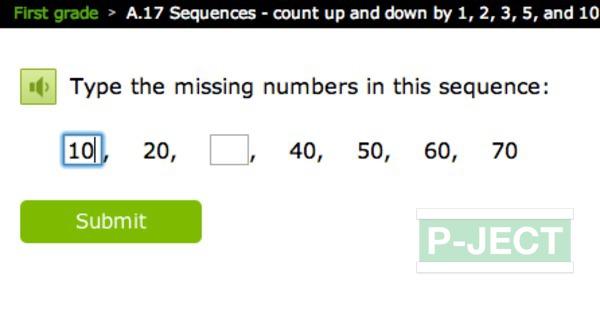 รูป 4 เติมตัวเลข ในช่องที่หายไป (คณิตออนไลน์)
