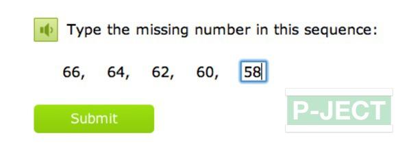 รูป 5 เติมตัวเลข ในช่องที่หายไป (คณิตออนไลน์)