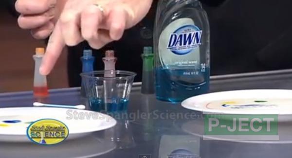 รูป 3 ทำการทดลองวิทยาศาสตร์ นมเปลี่ยนสี…