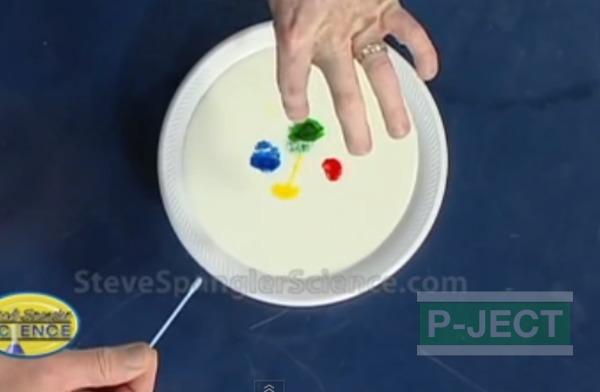 รูป 4 ทำการทดลองวิทยาศาสตร์ นมเปลี่ยนสี…
