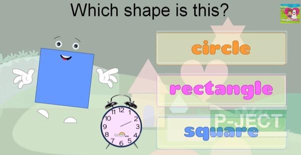 รูป 1 สอนรูปทรง จากคลิปวีดีโอ (คณิตศาสตร์)