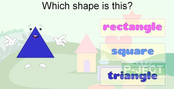 รูป 7 สอนรูปทรง จากคลิปวีดีโอ (คณิตศาสตร์)