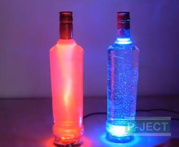 โคมไฟ ทำจากขวดแก้ว