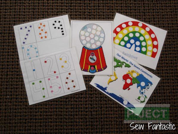 รูป 2 เกมส์สอบนับจำนวน จากปอมๆหลากสี