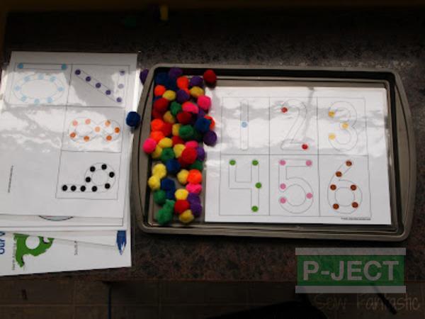 รูป 5 เกมส์สอบนับจำนวน จากปอมๆหลากสี
