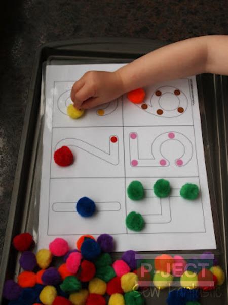 รูป 7 เกมส์สอบนับจำนวน จากปอมๆหลากสี