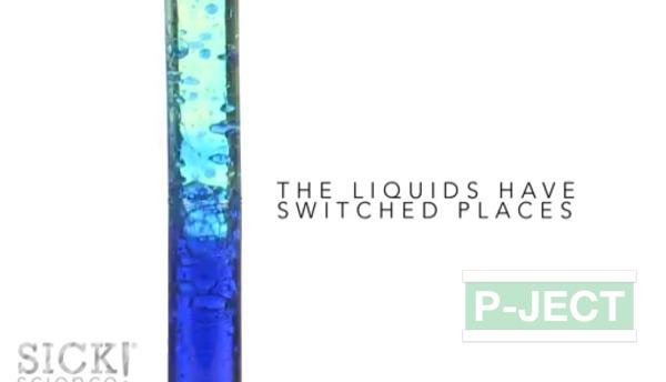 รูป 1 น้ำและน้ำมัน เมื่อมาเจอกัน จะเป็นอย่างไร