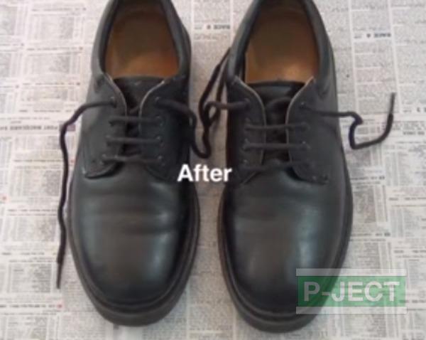 สอนทำความสะอาดรองเท้าหนัง