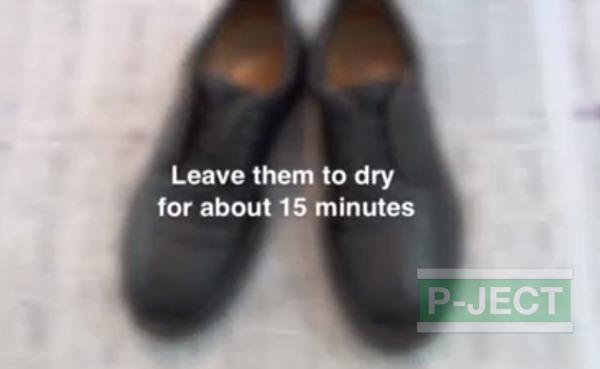 รูป 5 สอนทำความสะอาดรองเท้าหนัง